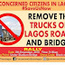 Lagosians set to Protest against the Parking of Trucks on Lagos roads and bridges