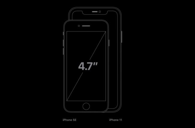مقارنة جديدة لحجم iPhone SE مع iPhone 11.