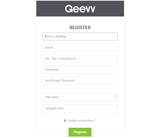 Cara submit web di geevv
