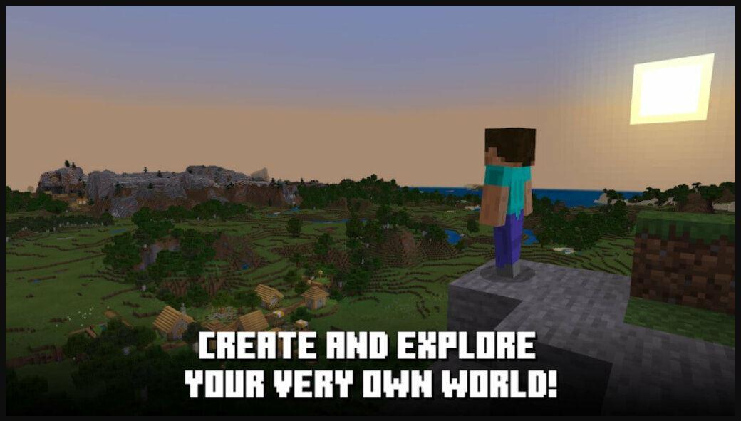 jelajah dunia sendiri di dunia minecraft