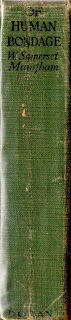 Spine of Of Human Bondage, W. Somerset Maugham first edition 1915