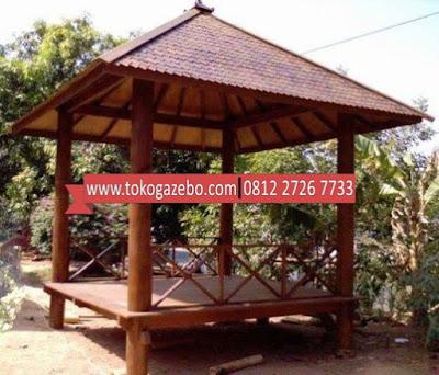 Gazebo Glugu Silang Atap Sirap