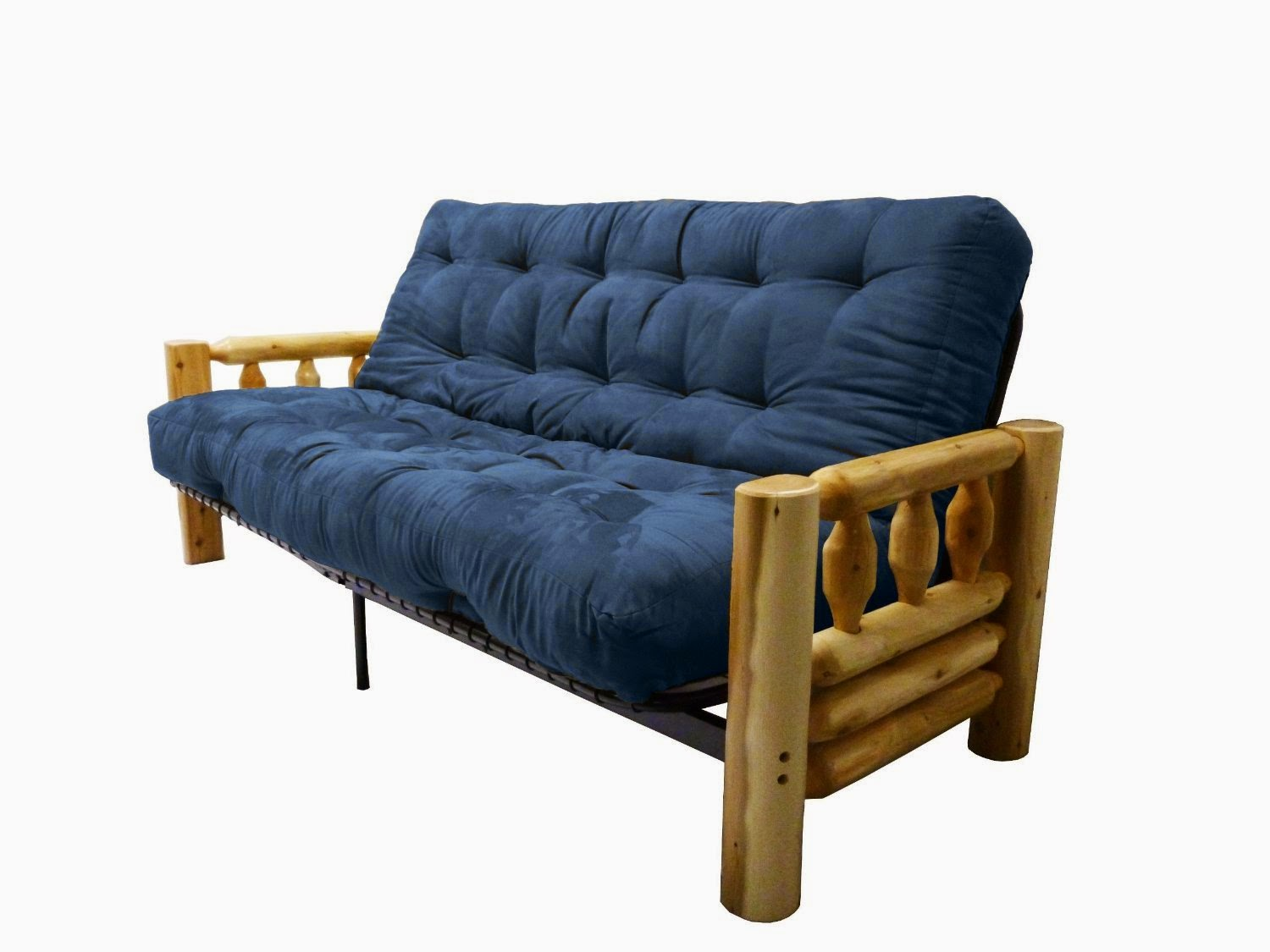 blue couch: dark blue couch