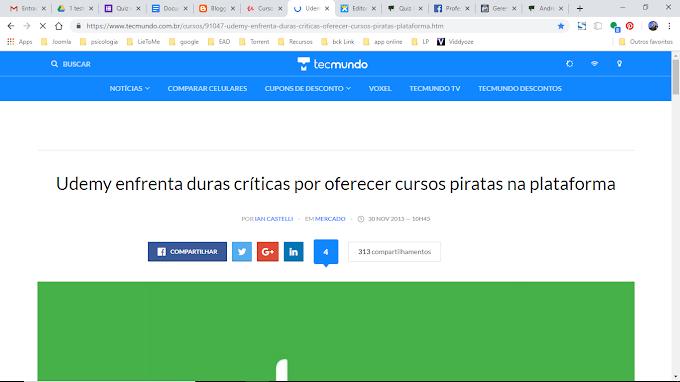 Pirataria no Udemy.