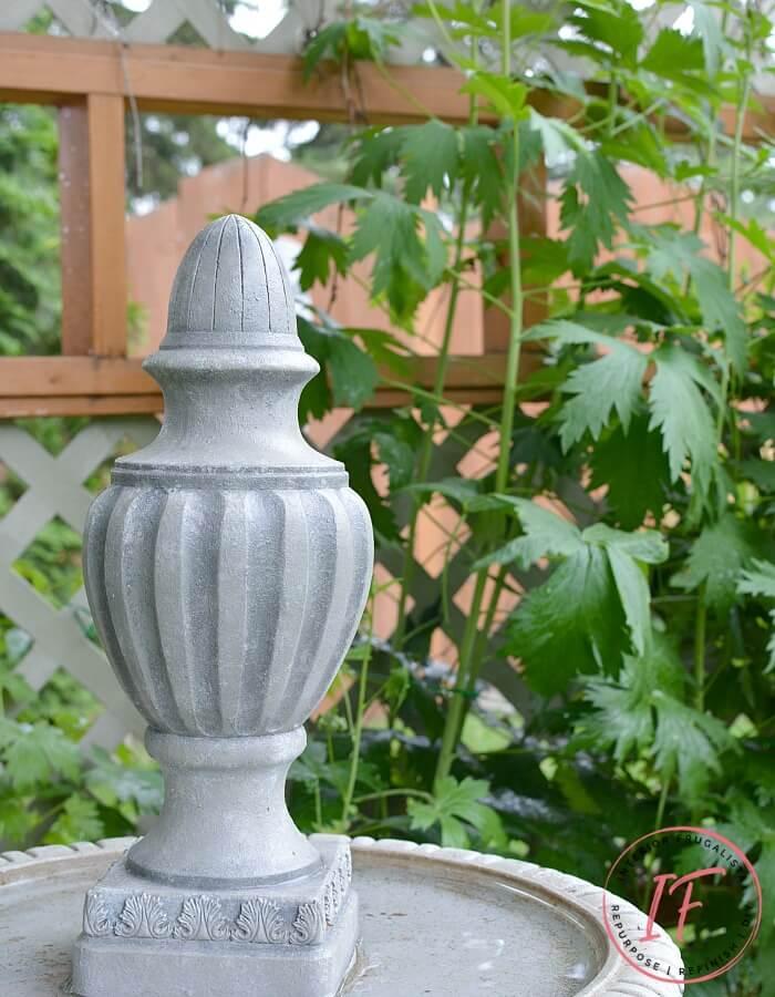 DIY Faux Concrete Garden Statue