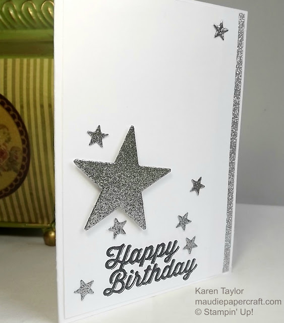 Stampin' Up! Mini Treat Bag thinlits star card