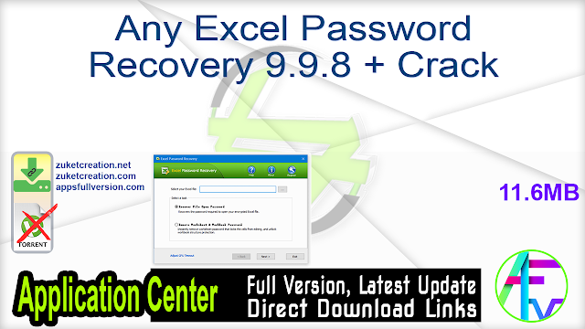 Any Excel Password Recovery 9.9.8 + Crack