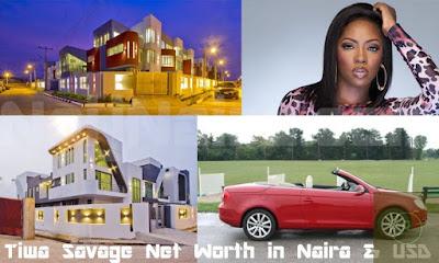 tiwa savage net worth,tiwa ssavage house and cars