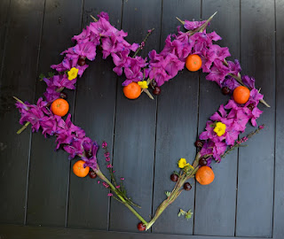 flower and fruit heart
