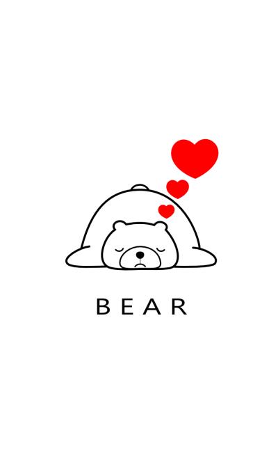 SIMPLE BEAR(white)Ver.2