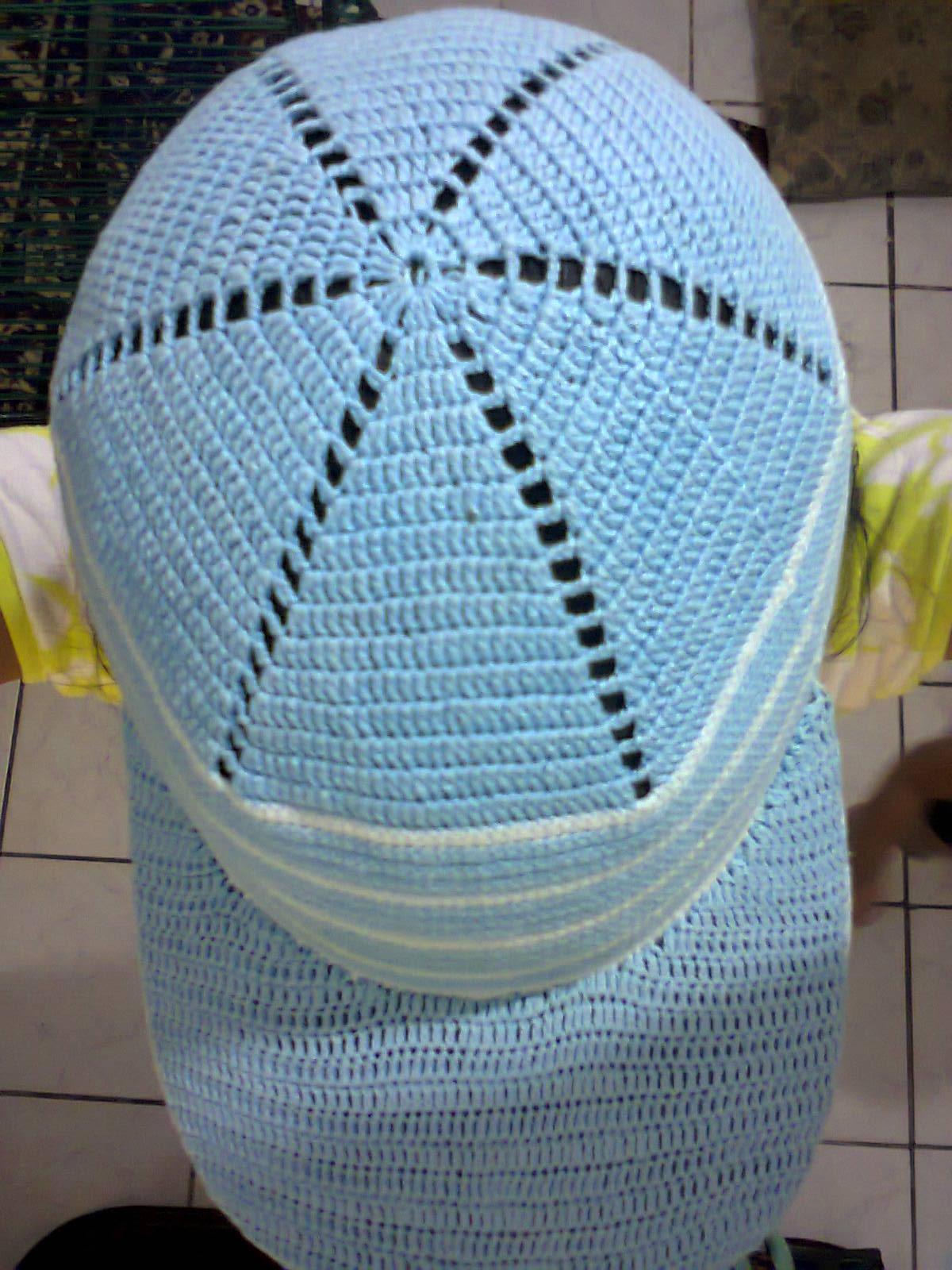 0d9355e6451bf Arte de bordar  Boné de croche