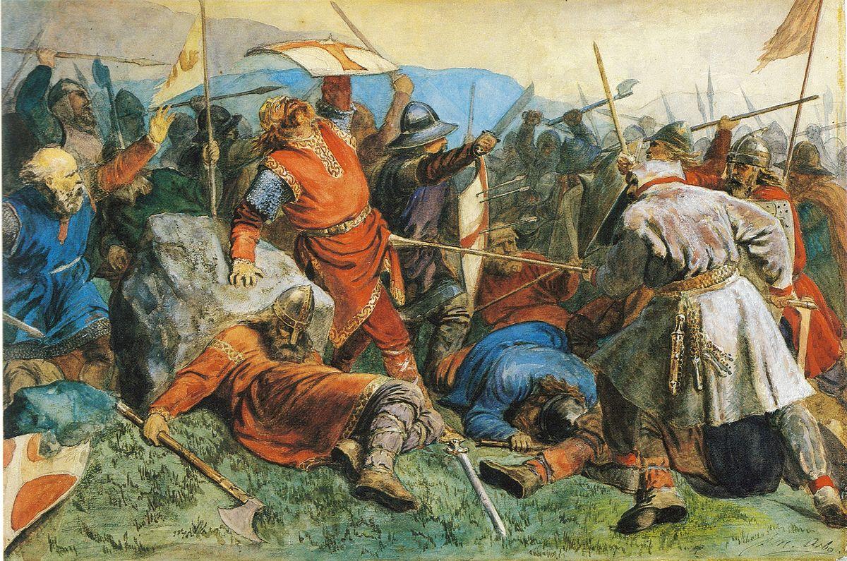 Representación de la batalla de Stiklestad de 1030