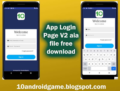 App login page V2 Free aia file download