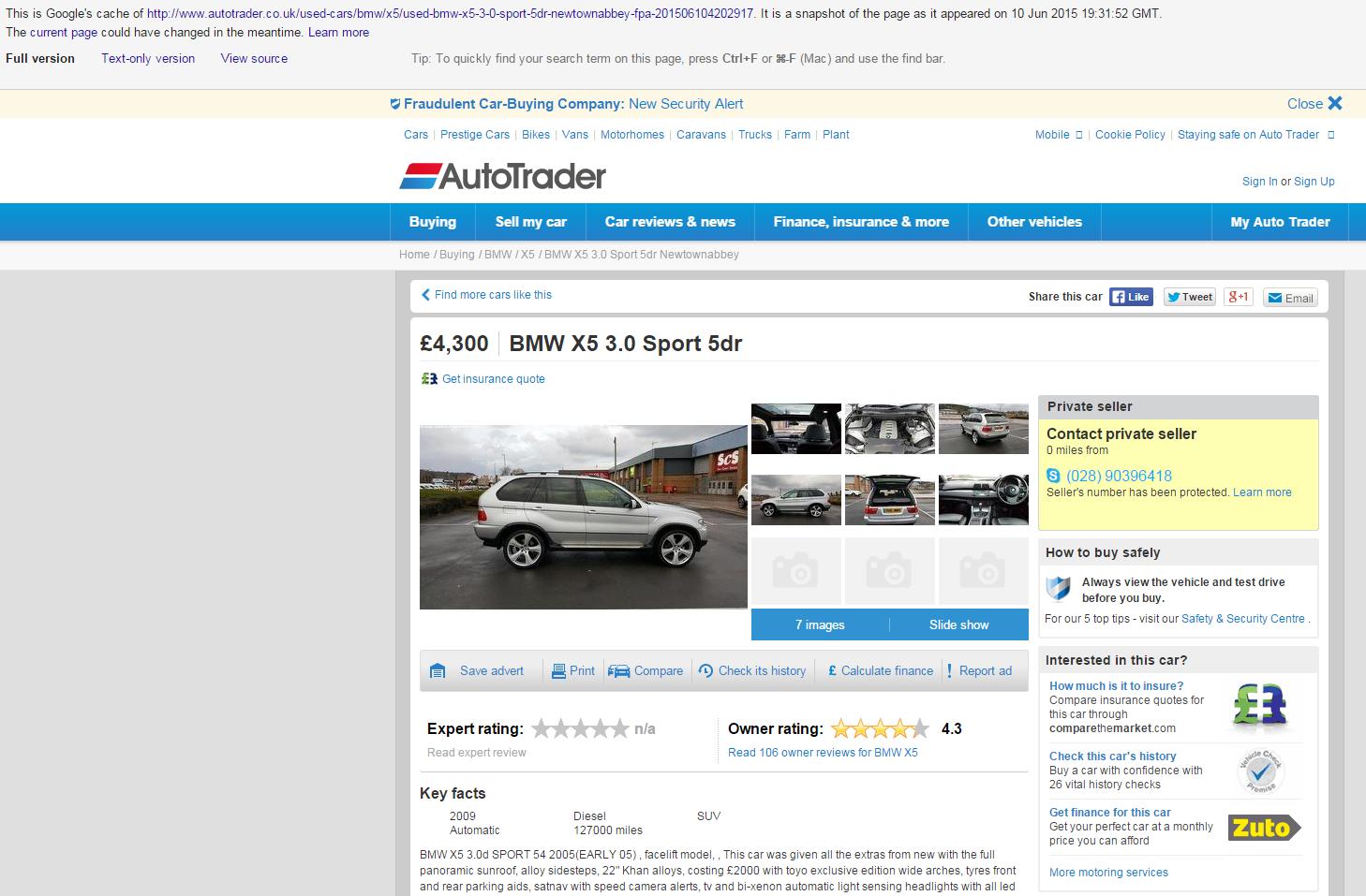 Jack Buster Jack Ebay Scam 2005 Bmw X5 3 0d Sport Lf55xen Fraud Lf55 Xen 23 Jun 15