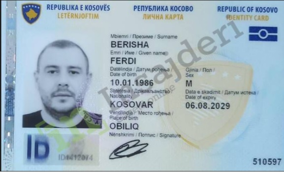 Brother of Albanian MP Eldin Dergjini (Barova) arrested in Kosovo with another identity