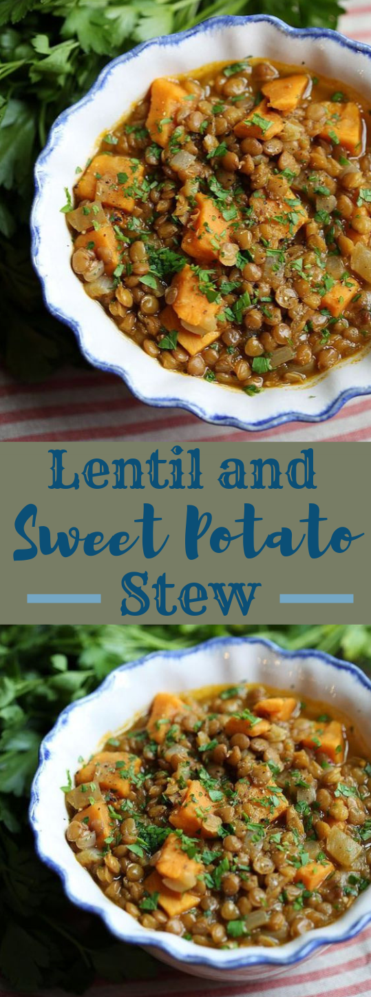 LENTIL AND SWEET POTATO STEW #lentil #vegetarian