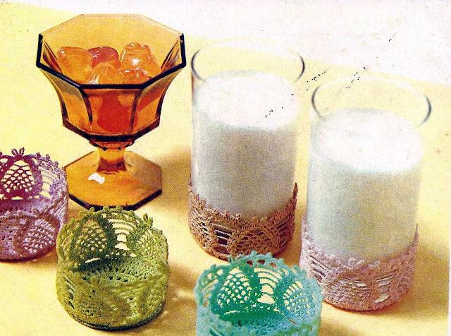 Patrón 1017 Juego de Fundas Para Vaso a Crochet