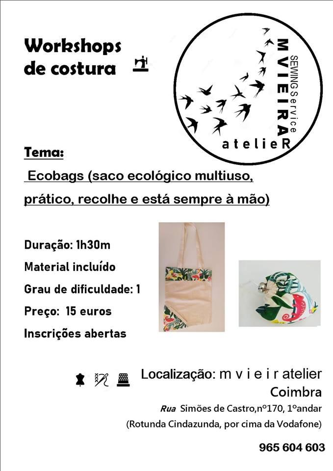 Workshops de costura em Coimbra