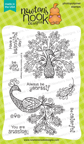 Newton's Nook Designs Beautiful Plumage Stamp Set