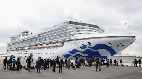 További harmincnégy utast fertőzött meg a koronavírus a Diamond Princess fedélzetén