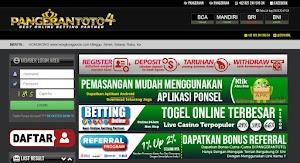 Tampilan website pangerantoto4 - ptempat.com