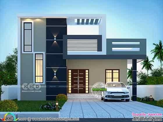 1400 sq. ft. modern home design