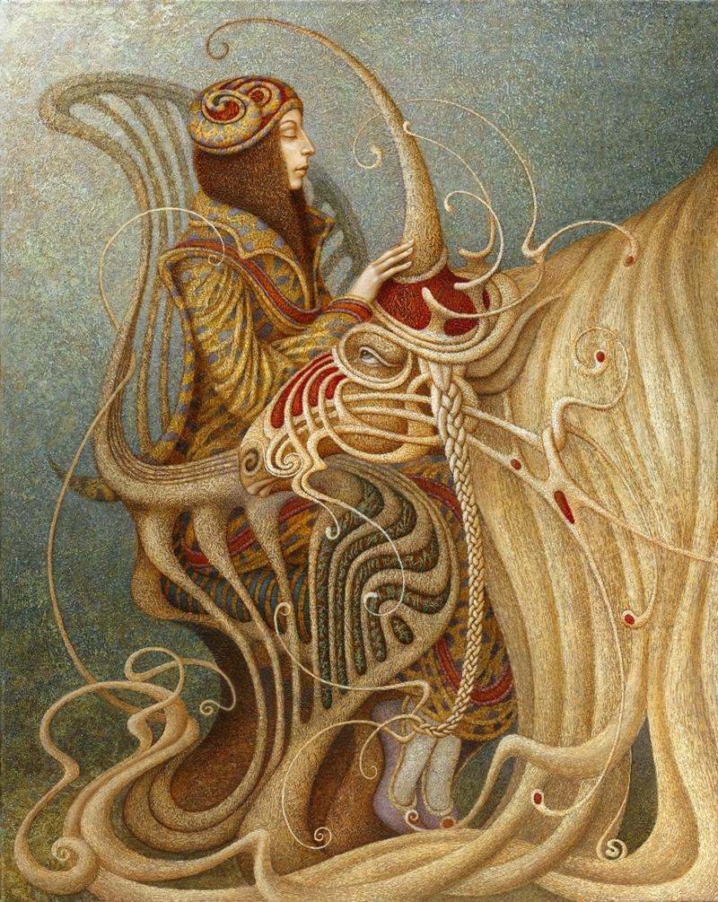 Boris Indrikov [Борис Индриков] - Russian  Magical Realism painter