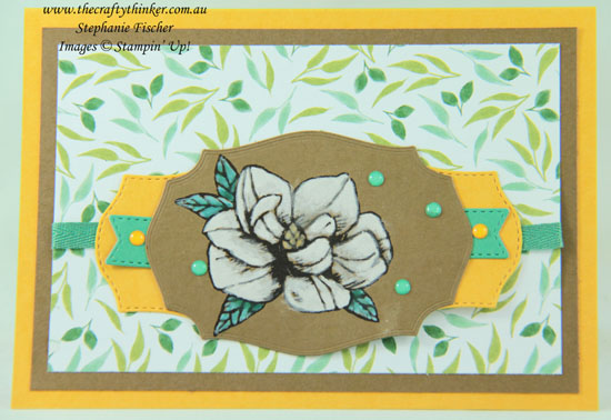 #thecraftythinker #magnoliablooms #cardmaking #stampinup #sneakpeek2020catalogue , Magnolia Blooms, Painting white on Craft, Tasteful Labels, Sneak Peek 2020 Annual Catalogue, Stampin' Up! Demonstrator, Stephanie Fischer, Sydney NSW