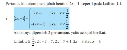 Contoh Soal Persamaan Nilai Mutlak Dan Pembahasannya Matematika Kelas 10 Sma Ma Smk Mak Idn Paperplane