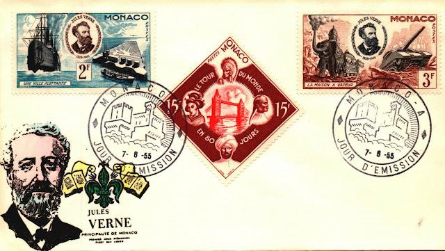 Monaco FDC  Jules Verne