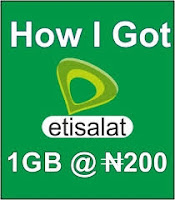 How  to get Etisalat Ramadan offer of 1GB for N200