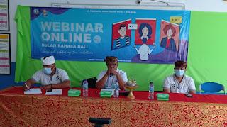 Bulan Bahasa Bali 2021,  SMK TI Bali Global Badung,  Wana Kerti Sabdaning Taru Mahottama, Penyuluh Bahasa Bali
