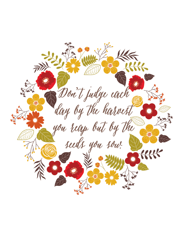 Fall quote free printable