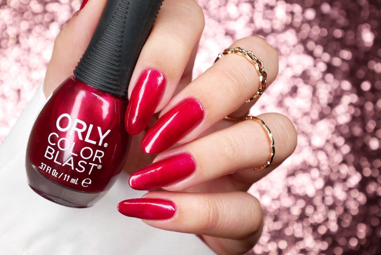 Orly color blast Garnet luxe shimmer