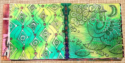 Adrift - Hurricane Art Journal Page by Laurie Anne Smith Sikorowski