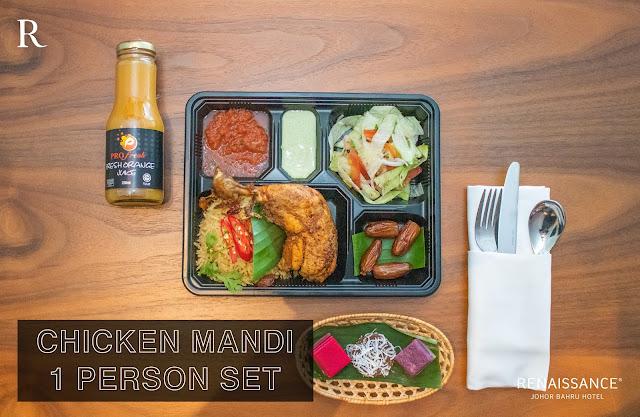 chicken mandi set bazar makan-makan stay home takeaway renaissance johor bahru hotel