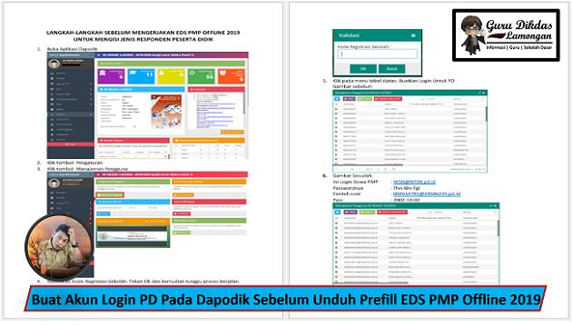 Buat Akun Login PD Pada Dapodik Sebelum Unduh Prefill EDS PMP Offline 2019