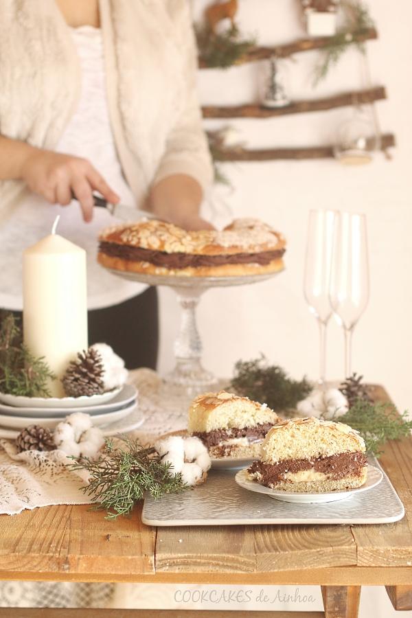 Roscón de Crema Pastelera y Trufa. Receta fácil y rápida. Cookcakes de Ainhoa