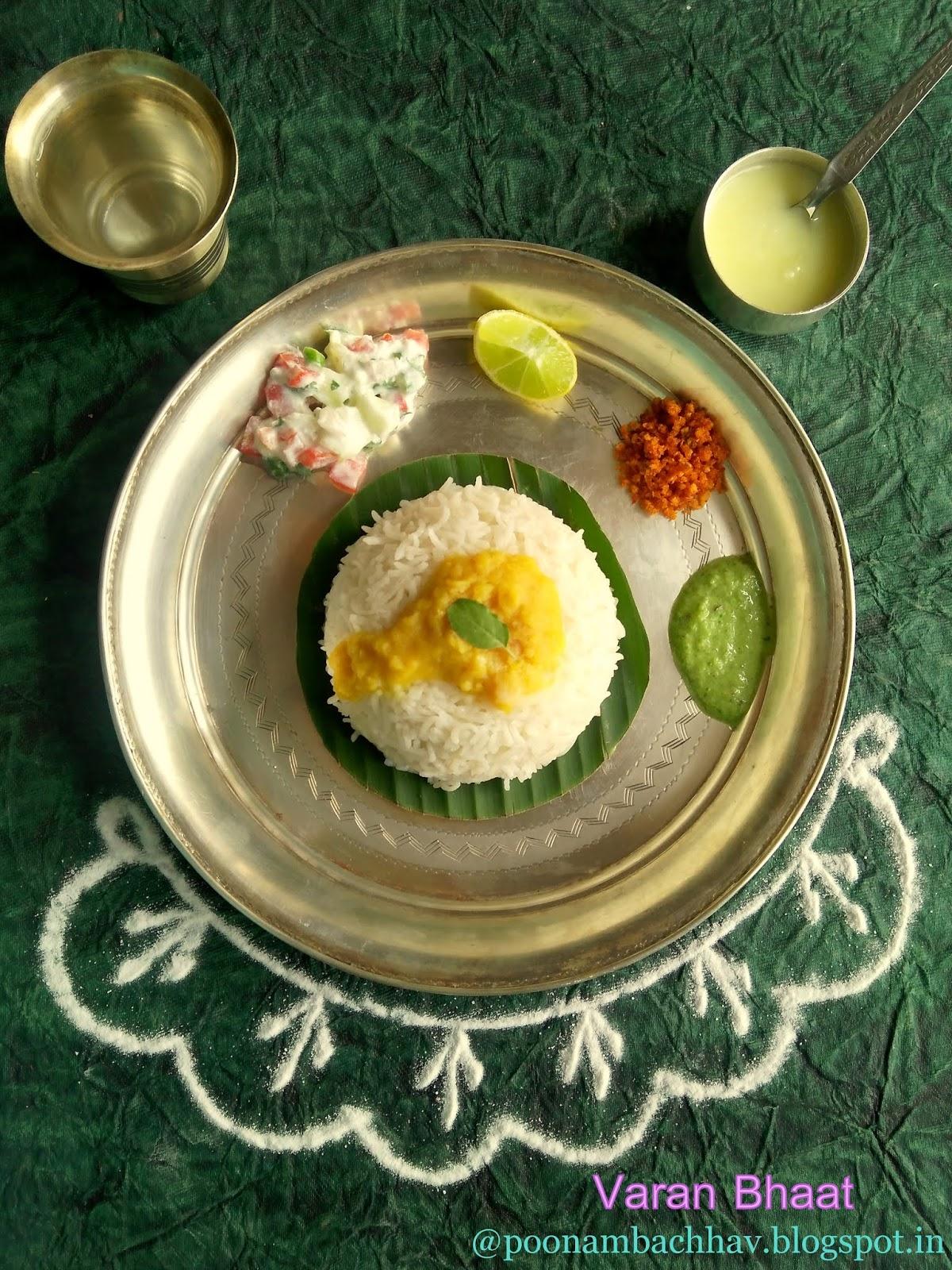 Annapurna: Maharashtrian Varan Bhaat Recipe