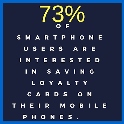 loyalty card stat: 73% of smartphone users are interested in saving loyalty cards on their mobile phones.