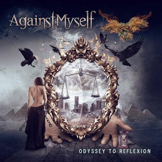 metal album cover woman mirror