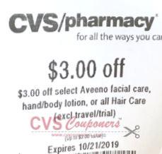 $3.00 off any Aveeno Facial Care