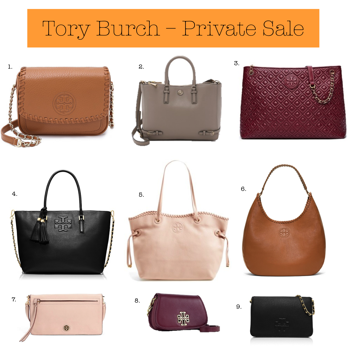Tory Burch is having a pretty amazing private sale right now that is online only, which goes without saying, but yay for being able to sit in bed and shop in your pajamas! The sale last till Friday, August 19 and everything included in the sale is up to 70% off.