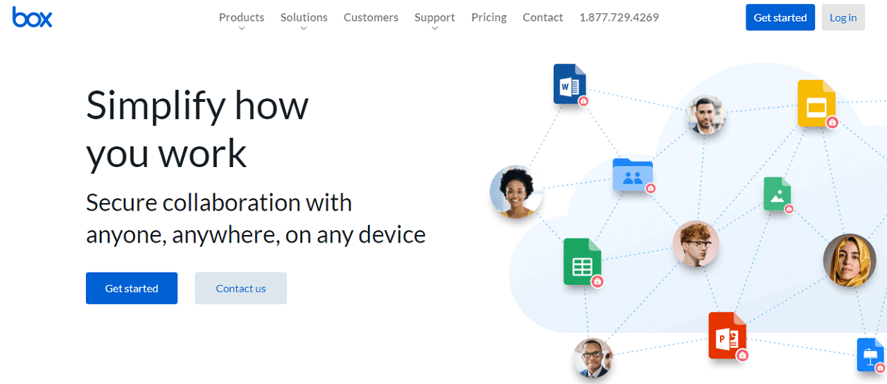Box layanan penyimpanan data online gratis