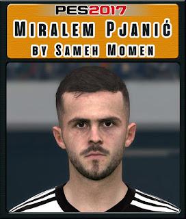PES 2017 Faces Miralem Pjanić by Sameh Momen