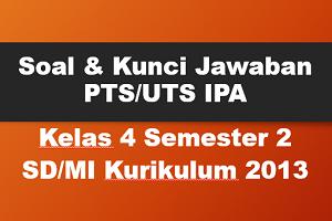 Download Soal dan Kunci Jawaban PTS/UTS IPA Kelas 4 Semester 2 SD/MI Kurikulum 2013
