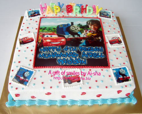 Birthday Cake Edible Image Disney Cars & Thomas Ai-sha Ai-sha Puchong Jaya