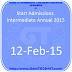 Start Admissions Intermediate Annual 2015