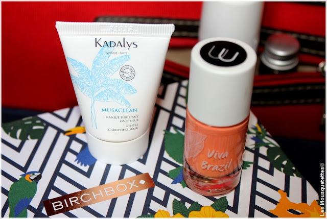 Birchbox août 2016 Viva Brazil - Masque visage Kadalys - Vernis Nailmatic - Blog beauté Les Mousquetettes©