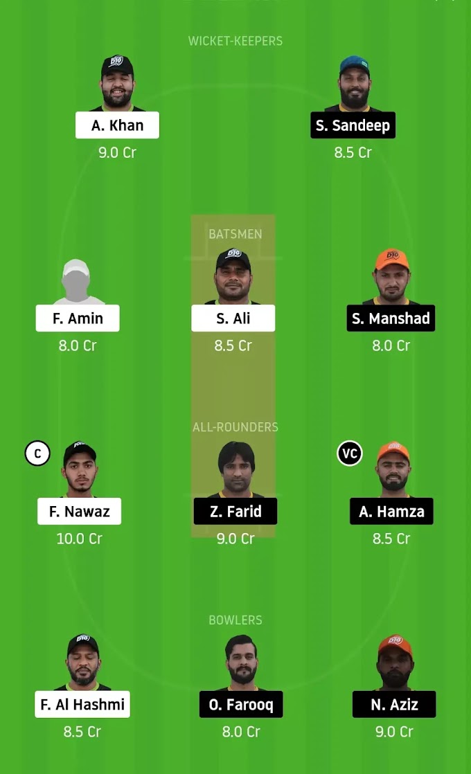DPS vs AAD Dream 11 Team Prediction, Today Match Prediction, Emirates D10 Tournament